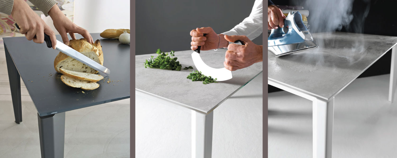 Tavolo Da Cucina Resistente Vetro Antigraffio : Un tavolo forte e resistente perfetto in cucina o